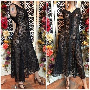 Vintage lace corset gothic witch dress Victorian